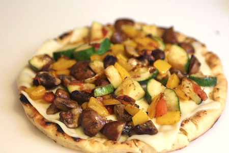 vegetables, grilled, pizza
