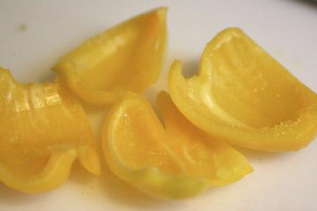 yellow, pepper, cut