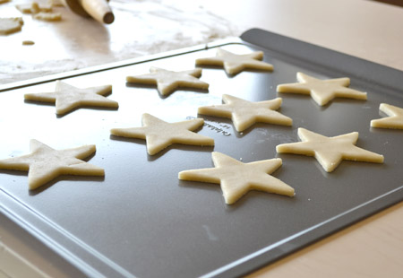 stars, cookie, baking sheet