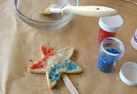 cookie, glitter, decorate