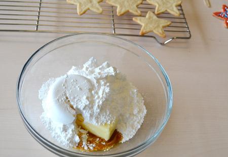 frosting, ingredients, bowl