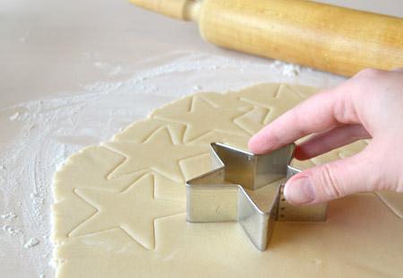 star, cookie, dough
