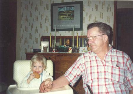 girl, grandpa, baby