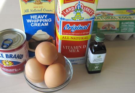 ice cream, ingredients, eggs
