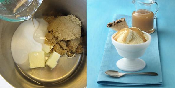 butter, sugar, ice cream