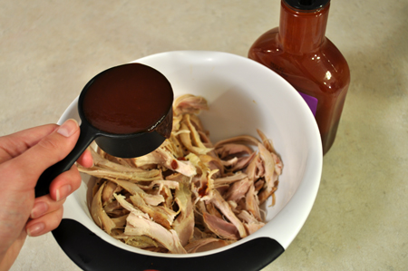 barbeque sauce, chicken, bowl