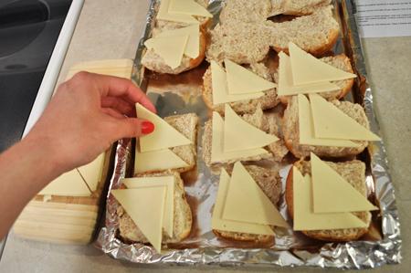 cheese, rolls, sliders