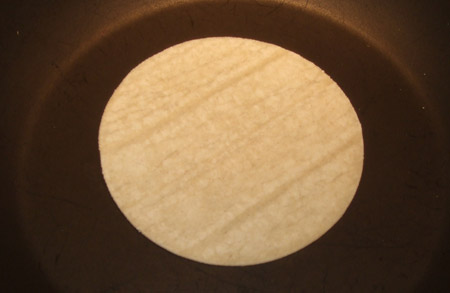 tortilla, skillet, crispy