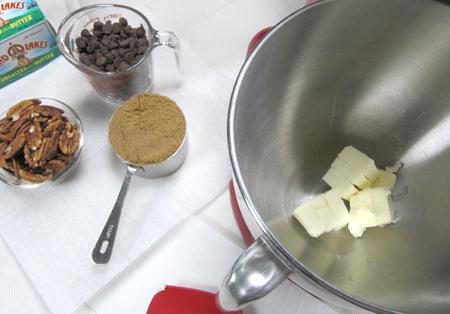 butter, flour, bowl