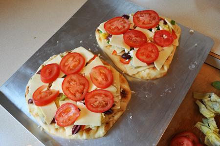 cheese, flatbread, pizza
