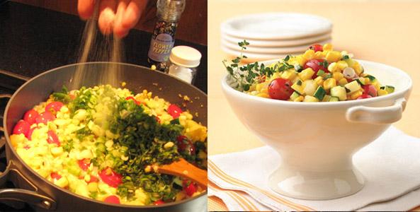 corn, succotash, bowl
