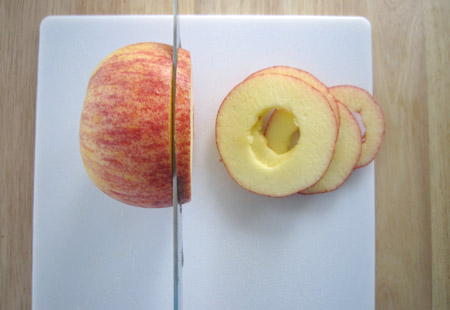 apple, rings, slice
