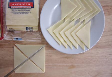 cheese, quarters, slice