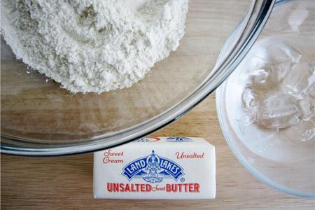butter, unsalted, crust