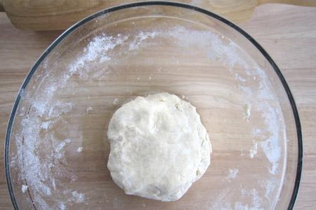 pie, crust, ball