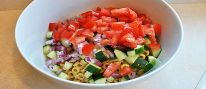 Add Veggies to Bowl