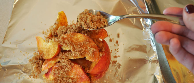 Sprinkle Sugar over Peaches