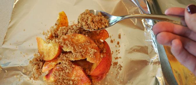 Sprinkle Sugar over Peaches