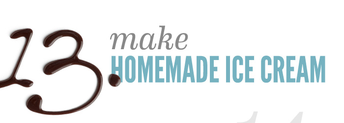 Make Homemade Icecream