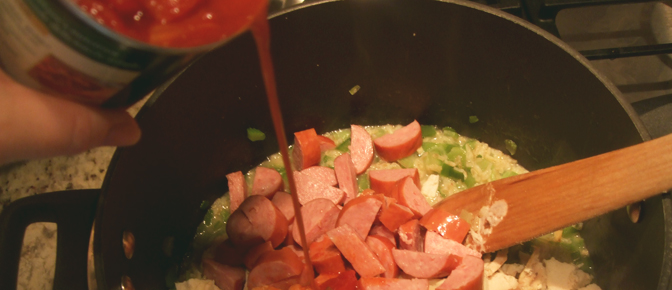 Add Diced Tomatoes