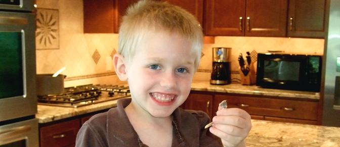 Kid with Wishbone