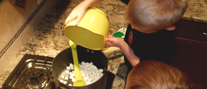 Adding Mini Marshmallows
