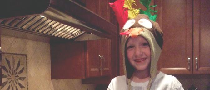 Kid with Turkey Hat