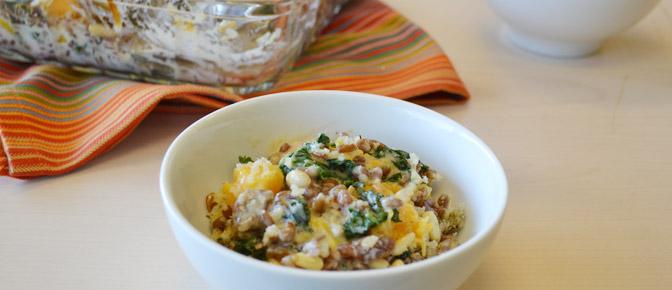 Farro Kale Butternut Squash in Bowl