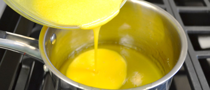 Add Egg Mixture