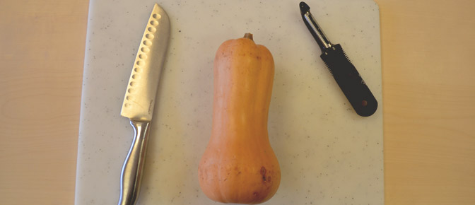 Whole Squash and Utensils