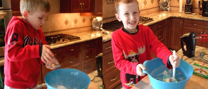 Kids Hand Mixing
