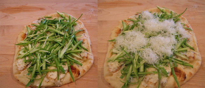 Add Shaved Asparagus and Grated Parmesan