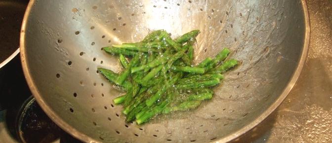 Rinse Asparagus