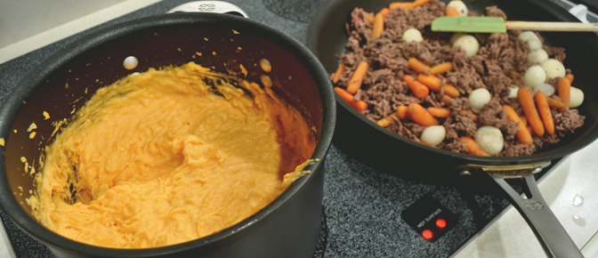Creamy Potatoes and Beef Mixture