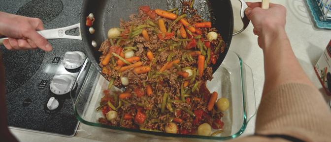 Pour into Casserole Dish