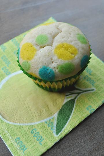 Polka Dot Cupcake on Napkin