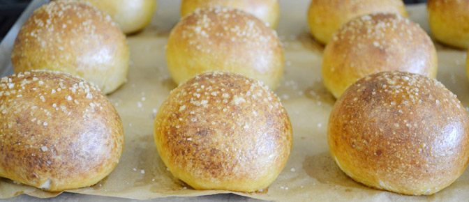 Baked Buns on Sheet