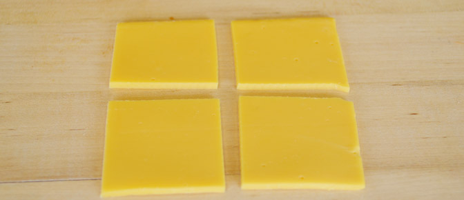 Quarter Cheese Slices