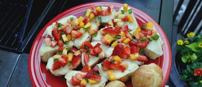 Bruschetta Topped with Fruit Salsa