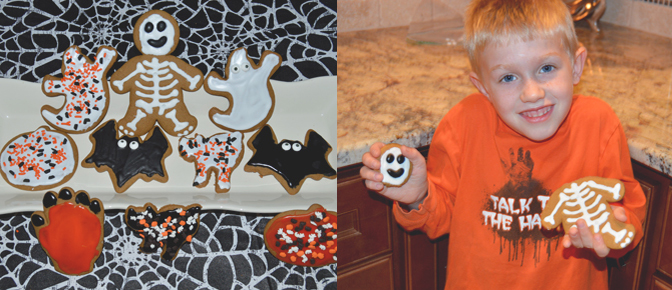 Decorated Halloween Cut Out Cookies