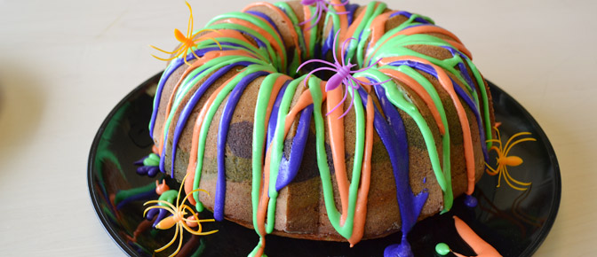 Final Halloween Swirl Cake