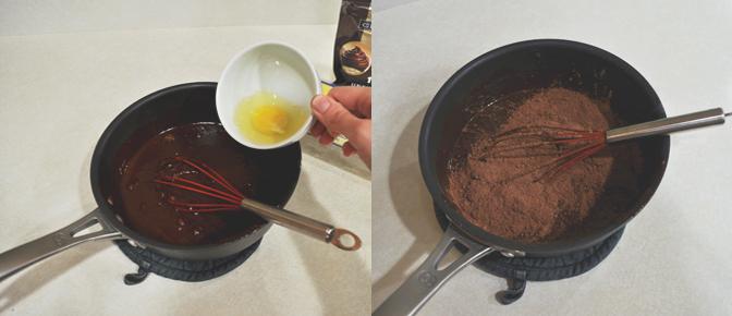 Add Eggs and Cocoa