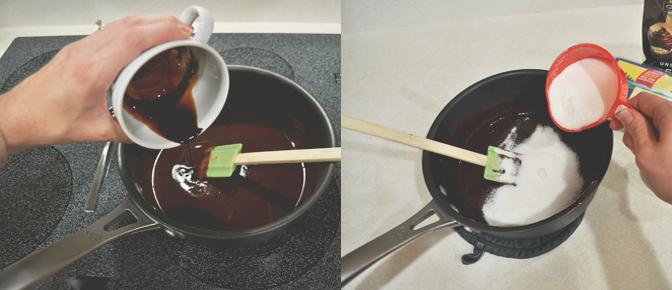 Add Espresso and Sugar