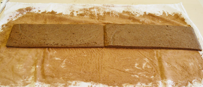 Lay Cake Side by Side on Towel