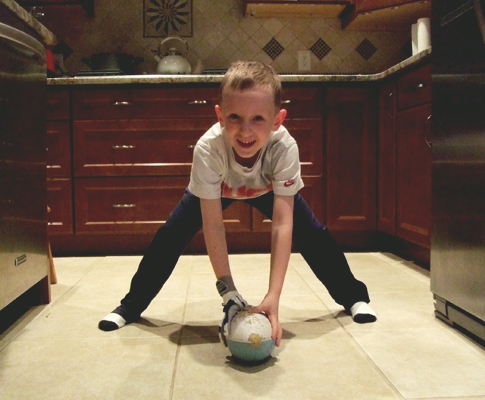 Kid with Football