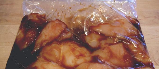 Marinating Chicken in Plastic Bag
