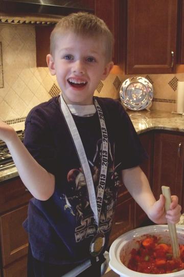 Kid Mixing  Ingredients