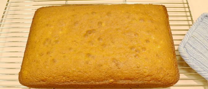 Cooled Cake on Rack