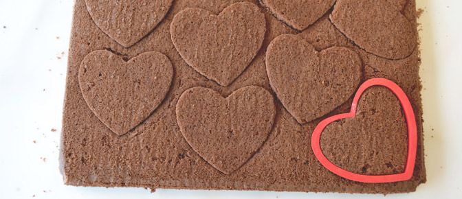 Heart Cookie Cutter with Cake