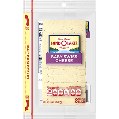 Sliced Baby Swiss Cheese